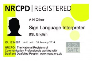 NRCPD badge