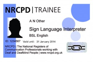 Trainee interpreter badge